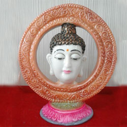 Buddha Statue l PolyMarble Buddha Idol l Hand Made Buddha showpiece 5ins