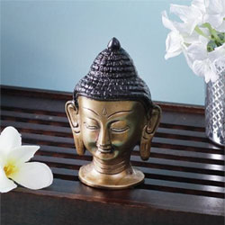 Buddha Statue Made With Gun Metal