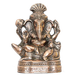 Handcrafted Lord Ganesh Statue in Metal - Pagdi Ganesh Pose - Handcrafted Showpiece Figurine for Table D'cor and Gifts - 12 Inch