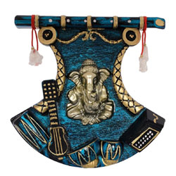 Jaipurcrafts Antique Wall Hanging Of Lord Ganesha With Showpiece - 43.18 Cm (Plastic, Multicolor)