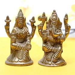 Brass Lakshmi and Ganesha brings health, wealth and prosperity in the life of people each one 3