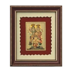 Shiv Parivaar photo frames SIZE : 5.00