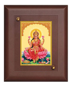 Diviniti MDF Wall Hanging Brown Single Photo Frame