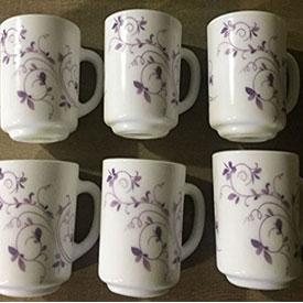 La Opala Diva Dazzle Purple Coffee Mug Set of 6