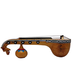 <strong> Bobbili Veena </strong> Bobbili in Vizianagaram district of AP is world renowned for the Veenas manufactured here Handmade Crafted Miniature Pure Wooden <br> Upto 10 Inch height <br> Decorative Showpiece Gift - Does Not Play Sound <br>lead time 2 working days