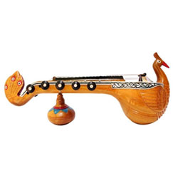 <strong> Peacock Veena </strong> Bobbili in Vizianagaram district of AP is world renowned for the Veenas manufactured here Handmade Crafted Miniature Pure Wooden <br>Upto 10 Inch Peacock Veena <br> Decorative Showpiece Gift - Does Not Play Sound <br> lead time 2 working days