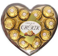 Cherir Love: A heart shaped container with 12 pieces of Cherir.