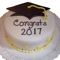 2kg Graduation Theme Cake pineapple Flavour 