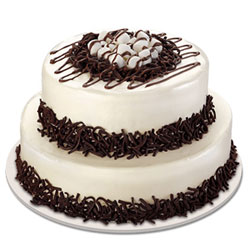 3 Kg Black Forest Cake, than this 2-tier arrangement freshly prepared by the best bakers. Suitable for grand Occasions like special Birthday, Wedding, etc