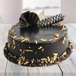 Send This Awesome Choco Almond Cake with lots of chocolate and almonds to your loved ones 1kg