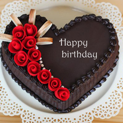 This delectable chocolate cake is a lovely way to express love to your special ones. It has heart shape and weighs 1.5 kg, making it perfect for a mini celebration