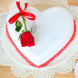 Send a beautiful surprise to your special ones by booking this amazing butterscotch flavored cake online. Its heart shape and irresistible taste is sure to speak for your feelings.