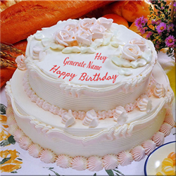 An ideal way to make any celebration memorable is to add this exotic round pineapple cake that weighs 5 kg to it. Decorated with lots of creamy frosting and flower topping, this cake is absolutely delectable.  <Br> Weight : 5 kg <Br>Flavours : Pineapple  <Br>Shape : 2step Round