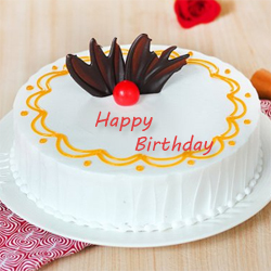 Mouth Watering Fresh Cream Cake, Flavour: Vanilla Cake, Weight : 1kg , Cakes to Bangalore