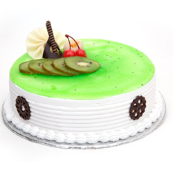 Bored of regular flavours? Try our premium kiwi flavoured cake with soft fresh cream and topped with adorable fruits, Cakes to Bangalore