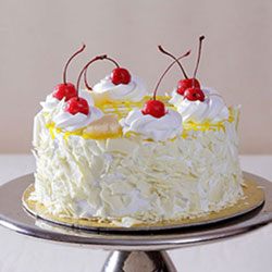 Fresh Cream White Forest Flavor Cake Weight : 2kg