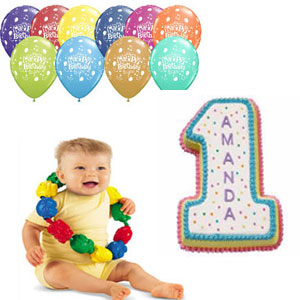 2 kg Number Vanilla Cake, please mention required number on the order form Snap Lock Beads Fisher price toys + unblown birthday balloons - 1pack