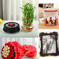 celebrations of the Birthday by gifting this Personalized Mug photo frame ( height : 8