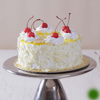 1 kg Fresh Cream White Forest Flavor Cake 