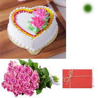 12 Pink roses bunch 1kg Eggless Butter scotch combine in this cake. A Butter scotch favorite made with perfection 
