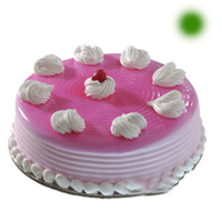 Eggless Round Strawberry Special Cake, Flavour : Strawberry, Weight : 1kg