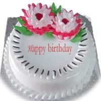 1 Kg birthday cake Round Premium-pineapple cake