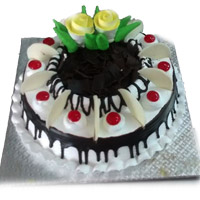 1 Kg Black Forest Birthday Cake to your near and dear, Quality Cakes from Best Bakeries.