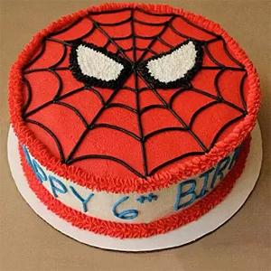 Creamy Spiderman cake