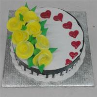 1kg Round Black Forest cake.