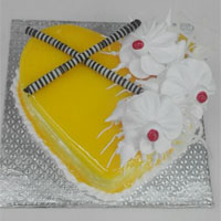 1 Kg Butter Scotch heart shape Birthday Cake to your near and dear, Quality Cakes from Best Bakeries.