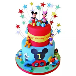 Dazzling Disney  4kg Fondant Chocolate cake 