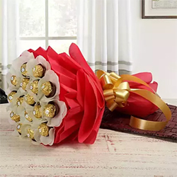 24 Pcs Ferrero Rocher chocolate bouquet will surprise anyone!, Flowers to Bangalore
