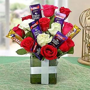 Perfect Choco Flower Arrangement