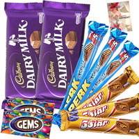 2 Cadbury Dairy Milk, 3 Perk, 
