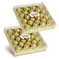 Two Boxes of soft crispy Fererro Rosher chocolates (24 pcs each box) will just be the right gift for someone you love.