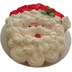 Santa Claus Face vanilla Cream Cake Christmas celebration is incomplete without a mouth-watering cake