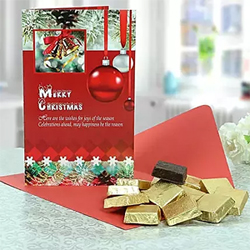 This is a perfect one to gift your near and dear ones this Christmas. Magic Bytes 250 grams+Christmas Greeting Card