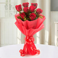 15 Luxurious arrangement of gorgeous red roses bunch, Flowers to Chennai