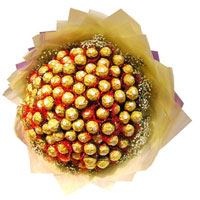 96 Pcs Ferrero Rocher chocolate bouquet will surprise anyone!