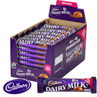 Cadbury Dairy Milk Chocolates  56 Bars. 786 gms