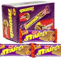 Nestle Munch Chocolate Pack Of 24  Net weight: 276 gm 24 nos 1 box)