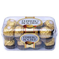 Ferrerro 16pcs: Rich and creamy chocolate made of nuts, almonds and crunchy caramel with a crispy hazelnut exterior and smooth creamy inside