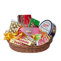 Basket of Assorted impoted chcolates