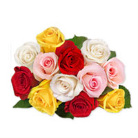 Charming bouquet of a  15 mixed roses