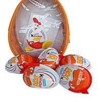 Kinder Joy Egg shape Chocos - (for Girls) - 8 pieces