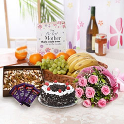 Bunch Of 10 Pink Rose In Tissue Wrapping