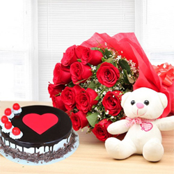 Overflowing with love, this moist chocolate cake 