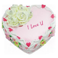 1 kg Heart Shape Strawberry Cake Perfect for expressing your love