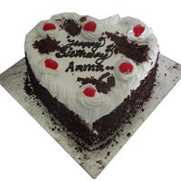 1 kg Heart Shape Black forest is the cake which can be savored at any time of the day! Same way, this exquisite Deutschland Black Forest Cake