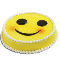 1 kg A smile can work wonders and so does this cake! It's a stunning smiley faced  butter scotch Cake, Cakes to Delhi